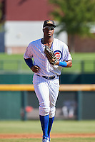 Mesa Solar Sox Eloy Jimenez (27), of the Chicago Cubs organization, during a game against the Scottsdale Scorpions on October 21, 2016 at Sloan Park in Mesa, Arizona.  Mesa defeated Scottsdale 4-3.  (Mike Janes/Four Seam Images)