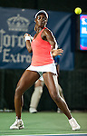 Sloane Stephens of the US during her semifinal match at the Citi Open in Washington, DC on August 3, 2012.