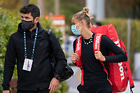 Paris, France, 03 ,10,  2020, Tennis, French Open, Roland Garros, Arantxa Rus (NED) with her coach<br /> Photo: Fred  Mullane/tennisimages.com