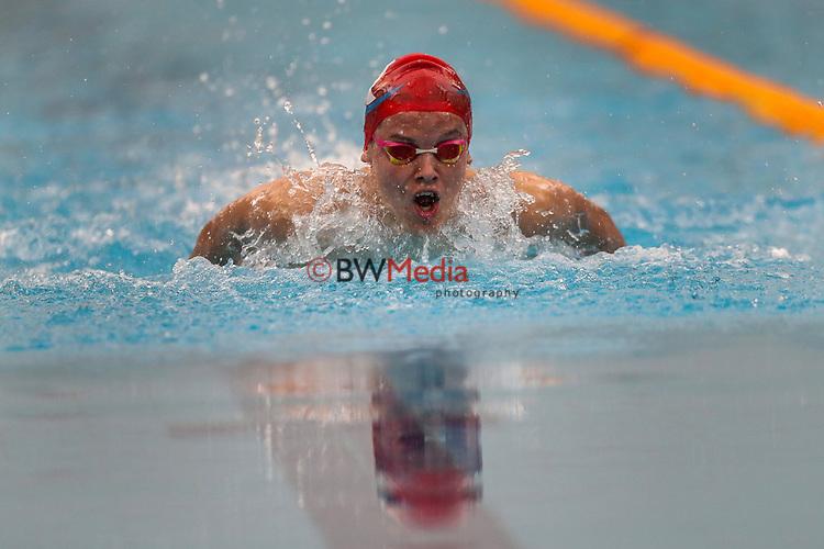 Bronson Lloyd, AON Swimming New Zealand National Age Group Swimming Championships, National Aquatic Centre, Auckland, New Zealand, Saturday 21 April 2018. Photo: David Rowland/www.bwmedia.co.nz