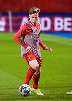Yari Verschaeren (10) of Belgium warming up before   a soccer game between the national teams Under21 Youth teams of Belgium and Denmark on the fourth matday in group I for the qualification for the Under 21 EURO 2023 , on tuesday 12 th of october 2021  in Leuven , Belgium . PHOTO SPORTPIX   STIJN AUDOOREN