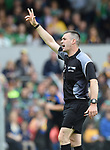 Referee James Owens during the Munster championship game in Ennis. Photograph by John Kelly.