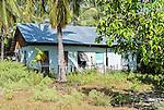 A house in a remote village on the island of Kiritimati in Kiribati