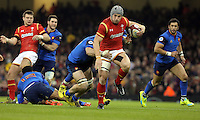 Jonathan Davies of Wales avoids a tackle during the Wales v France, 2016 RBS 6 Nations Championship, at the Principality Stadium, Cardiff, Wales, UK