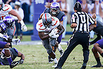 Texas Tech Red Raiders running back Kenny Williams (34) in action during the game between the Texas Tech Red Raiders and the TCU Horned Frogs at the Amon G. Carter Stadium in Fort Worth, Texas. TCU defeats Texas Tech 82 to 27.