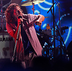 WESTWOOD CA - July 12, 2008: Pearl Jam on stage during the VH1 Honors tribute to the Who at Pauley Pavilion on the UCLA campus in Westwood Saturday July 12, 2008. (Richard Hartog/Los Angeles Times).