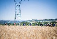 high mountains in the background<br /> <br /> Stage 5: Boën-sur-Lignon to Voiron (201km)<br /> 71st Critérium du Dauphiné 2019 (2.UWT)<br /> <br /> ©kramon