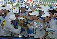 Earthquakes wins MLS Cup at Home Depot Center in Carson, California on November 23rd, 2003.