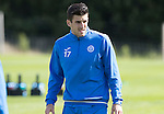 St Johnstone Training….26.08.16<br />Michael Coulson pictured during training this morning at McDiarmid Park who has agreed a loan deal with East Fife<br />Picture by Graeme Hart.<br />Copyright Perthshire Picture Agency<br />Tel: 01738 623350  Mobile: 07990 594431