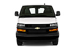 Car photography straight front view of a 2020 Chevrolet Express-Cargo WT 4 Door Cargo Van Front View