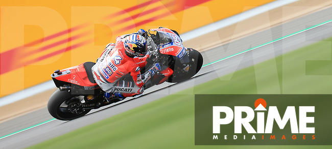Andrea Dovizioso (4) of the Ducati race team during the GoPro British MotoGP at Silverstone Circuit, Towcester, England on 24 August 2018. Photo by Chris Brown / PRiME Media Images