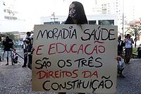 06/08/2020 - MORADORES DA OCUPAÇÃO NELSON MANDELA PROTESTAM EM CAMPINAS