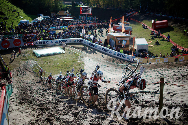 """it's an extreme steep dune out of """"The Pit""""<br /> <br /> GP Zonhoven 2014"""