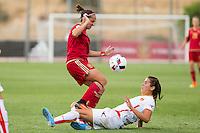 Spain's Marta Torrejon during the match of  European Women's Championship 2017 at Las Rozas, between Spain and Montenegro. September 15, 2016. (ALTERPHOTOS/Rodrigo Jimenez) /NORTEPHOTO