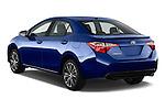 Car pictures of rear three quarter view of 2016 Toyota Corolla S Premium 4 Door Sedan Angular Rear