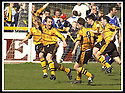 06/04/2002                 Copyright Pic : James Stewart .Ref :     .File Name : stewart-alloa v qos   16.MAX CHRISTIE CELEBRATES WITH TEAM MATES AFTER SCORING ALLOA'S SECOND GOAL.....James Stewart Photo Agency, 19 Carronlea Drive, Falkirk. FK2 8DN      Vat Reg No. 607 6932 25.Office     : +44 (0)1324 570906     .Mobile  : + 44 (0)7721 416997.Fax         :  +44 (0)1324 630007.E-mail  :  jim@jspa.co.uk.If you require further information then contact Jim Stewart on any of the numbers above.........