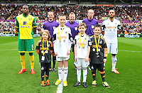 Swansea v Norwich, Liberty stadium Swansea, Saturday 29th March 2014<br /> <br /> Photographs by Amy Husband<br /> <br /> Children mascots.
