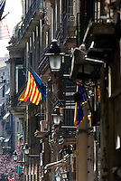 Carrer de la Boqueria im Barri Gotic, Barcelona, Spanien