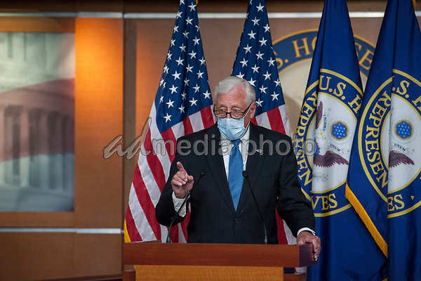 United States House Majority Leader Steny Hoyer (Democrat of Maryland), arrives to join US Representative Adam Schiff (Democrat of California), US Representative Eliot Engel (Democrat of New York), and other Democratic House members, for a news conference at the US Capitol, following a meeting at the White House in Washington, DC, Tuesday, June 30, 2020. Photo Credit: Rod Lamkey/CNP/AdMedia
