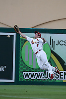 Palm Beach Cardinals outfielder Mike O'Neill #11 during a game against the Fort Myers Miracle at Roger Dean Stadium on May 1, 2012 in Jupiter, Florida.  Palm Beach defeated Fort Myers 9-3.  (Mike Janes/Four Seam Images)