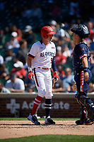 Robert Hassell (9) during the Under Armour All-America Game, powered by Baseball Factory, on July 22, 2019 at Wrigley Field in Chicago, Illinois.  Robert Hassell attends Independence High School in Franklin, Tennessee and is committed to Vanderbilt University.  (Mike Janes/Four Seam Images)