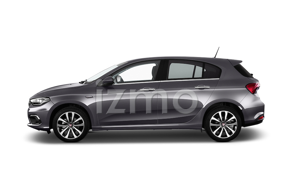 Car Driver side profile view of a 2016 Fiat Tipo Lounge 5 Door Hatchback Side View
