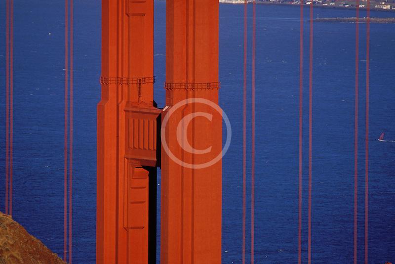 California, Marin County, Golden Gate Bridge and Marin Headlands