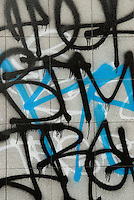 Close-up of Graffiti on a Wall, Allen Street, Lower East Side, New York City, New York State, USA