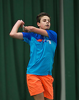 Rotterdam, The Netherlands, March 11, 2016,  TV Victoria, NOJK 12/16 years, Rik Muller (NED)<br /> Photo: Tennisimages/Henk Koster
