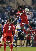 HOOVER, AL - DECEMBER 07, 2012:  Femi Hollinger-Janzen (6) of the University of Indiana against Creighton University during an NCAA 2012 Men's College Cup semi-final match, at Regions Park, in Hoover , AL, on Friday, December 07, 2012. Indiana won 1-0.