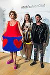 Spanish designer Agatha Ruiz de la Prada, violinist Elena Mikhailova and Dj Madison pose to the media at MBFWM16 in Madrid. September 16, Spain. 2016. (ALTERPHOTOS/BorjaB.Hojas)