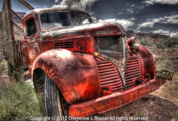 Dodge Bootlegger Truck - Utah - old red truck
