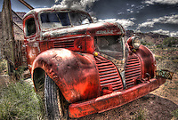 Dodge Bootlegger Truck - Utah - old red truck