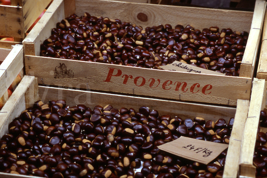 Chestnuts for roasting in Provence, France
