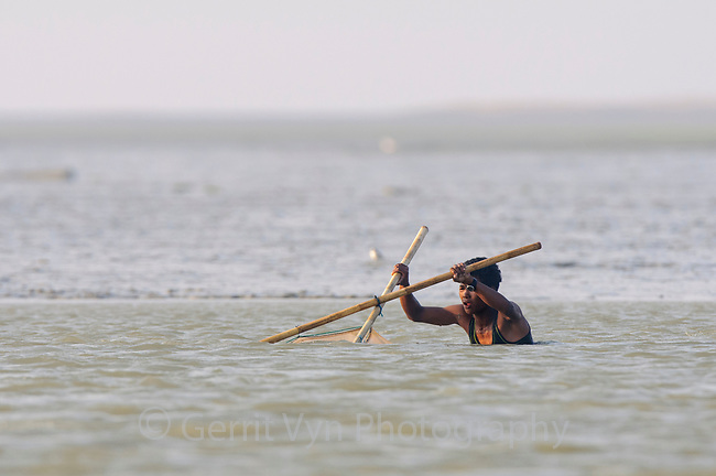Subsistence shrimper. Rakhine State, Myanmar. January.