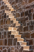 Stone Steps of the Chand Baori Step Well, Abhaneri Village, Rajasthan, India.  Built 800-900A.D.