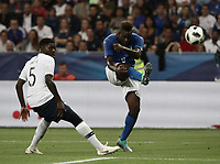 International friendly football match France vs Italy, Allianz Riviera, Nice, France, June 1, 2018. <br /> Italy's Mario Balotelli (r) in action with France's Samuel Umtiti (l) during the international friendly football match between France and Italy at the Allianz Riviera in Nice on June 1, 2018.<br /> UPDATE IMAGES PRESS/Isabella Bonotto