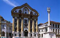 Ursulinenkirche in Ljubljana, Slowenien.