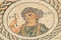 Zypern (Süd), Boden-Mosaik in der Villa des Eustolios in Kourion, erbaut um Chr. Geburt