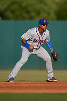 St. Lucie Mets second baseman Luis Carpio (11) during a game against the Florida Fire Frogs on April 19, 2018 at Osceola County Stadium in Kissimmee, Florida.  St. Lucie defeated Florida 3-2.  (Mike Janes/Four Seam Images)
