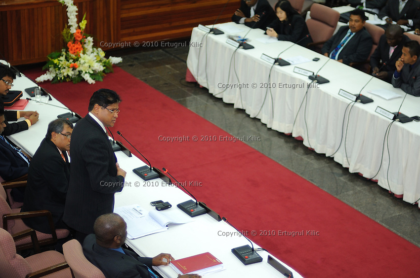 Chandrikapersad Santokhi's speech at De Nationale Assemblée (DNA) / The National Assemble of Suriname after Desi Bouterse (Desiré Delano Bouterse) won election of presidential election.....Desi Bouterse (Desiré Delano Bouterse) chosen as new president of Suriname by De Nationale Assemblée (DNA) / The National Assemble of Suriname. He took 36 votes of 51 as leader of the Mega Combination. ....Robert_Ameerali the head of KKF (Kamer van Koophandel en Fabrieken) / Chamber of Commerce and Industry also selected as Vice President.....Desi Bouterse (Desiré Delano Bouterse) will sworn at 3 August 2010