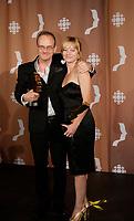 Montreal (Qc) CANADA - Sept 14, 2008 - <br /> <br /> Pierre Verville,Laurence Leboeuf ,  LES LAVIGUEUR<br />  , LA VRAI HISTOIRE,<br /> <br /> <br /> 2008 Gemeaux Gala rewarding French-Canadian television.