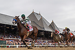 August 28, 2021: Gamine #1 ridden by John Velazquez wins the Ketel One Ballerina on Travers Day at Saratoga Race Course in Saratoga Springs, N.Y. on August 28, 2021. <br /> Robert Simmons/Eclipse Sportswire/CSM