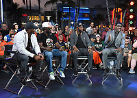 "MIAMI BEACH, FL - JANUARY 28:  (L-R) Ray Lewis, Ed Reed, Reggie Wayne, and Michael Irvin discuss Fox Sports ""The ReUnion"" at the Fox Sports South Beach studio during Super Bowl LIV week on January 29, 2020 in Miami Beach, Florida. (Photo by Frank Micelotta/Fox Sports/PictureGroup)"