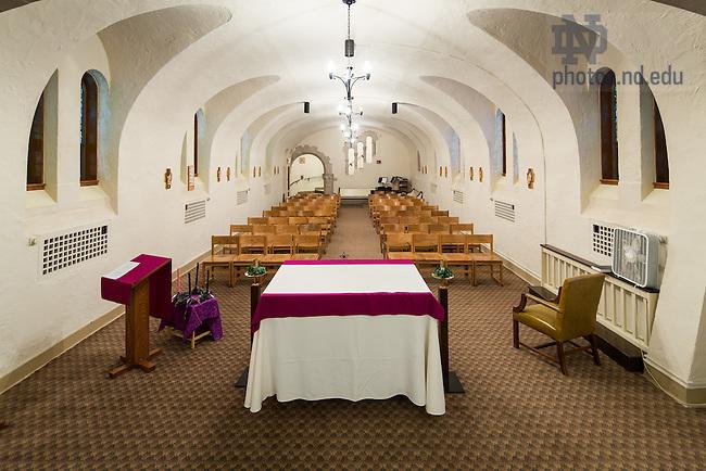 Dec. 17, 2013; Lyons Hall chapel before renovation<br /> <br /> Photo by Matt Cashore/University of Notre Dame