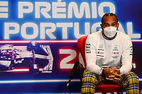 29th April 2021; Algarve International Circuit, in Portimao, Portugal; F1 Grand Prix of Portugal, driver and team arrival and inspection day; Lewis Hamilton GBR, Mercedes-AMG Petronas F1 Team press conference