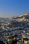 Sunrise from Corona heights looking at homes along hillside, San Francisco, California USA