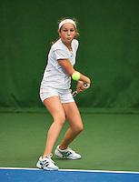 01-12-13,Netherlands, Almere,  National Tennis Center, Tennis, Winter Youth Circuit, Tess Menten <br /> Photo: Henk Koster