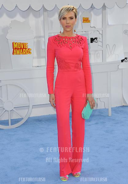 Scarlett Johansson at the 2015 MTV Movie Awards at the Nokia Theatre LA Live.<br /> April 12, 2015  Los Angeles, CA<br /> Picture: Paul Smith / Featureflash