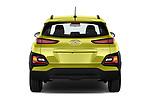 Straight rear view of a 2018 Hyundai Kona Twist 5 Door SUV stock images